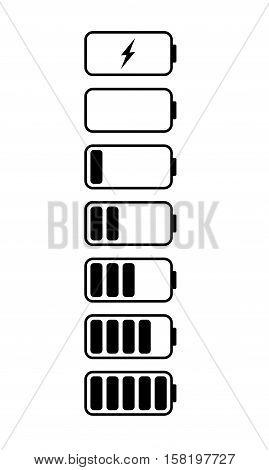 black battery sign on white back ground