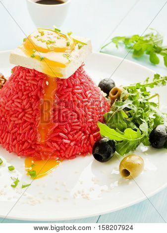 Rice With Tofu And Egg Yolk
