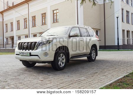 Sukhum, Russia - October 10, 2016: Toyota Land Cruiser parked on the street.