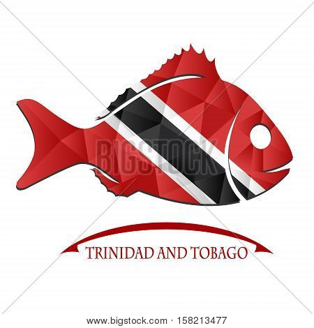 fish logo made from the flag of Trinidad and Tobago