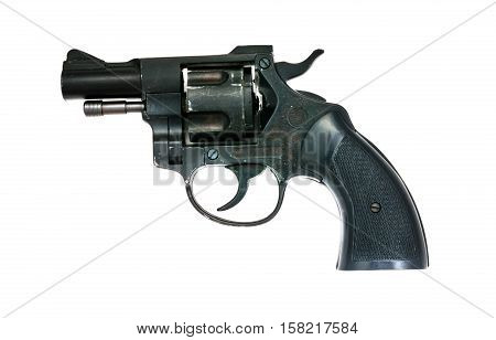 a handgun isolated on the white background