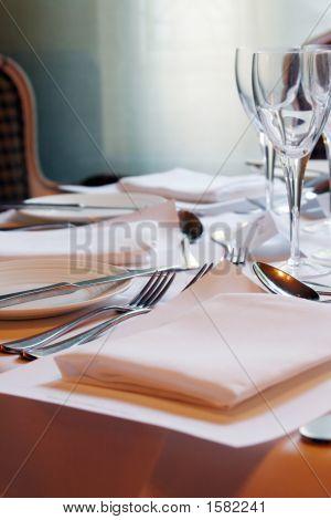 Tableware In The Restaurant