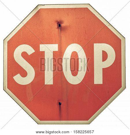 Vintage Looking Stop Sign
