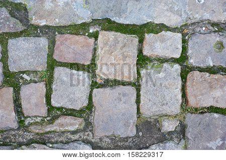 Background Of Sett. Cobblestone Pavement