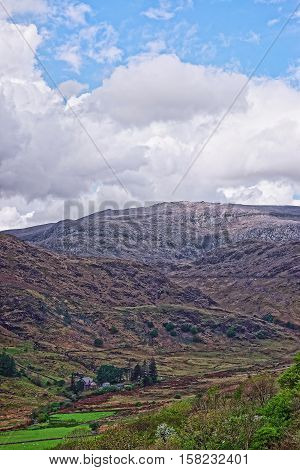 Beautiful Chain Of Mountains In Snowdonia National Park