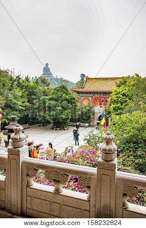 Big Buddha And Po Lin Monastery On Lantau Hong Kong