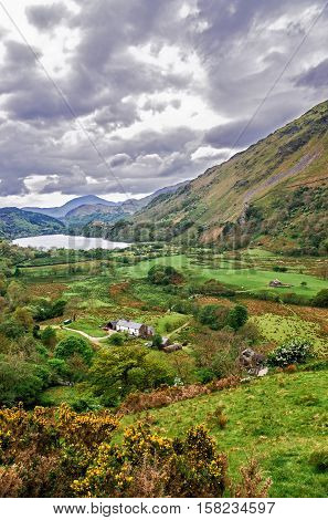 Chain Of Mountains In National Park Snowdonia