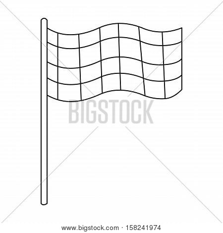 Checkered flag icon outline. Single sport icon from the big fitness, healthy, workout outline.