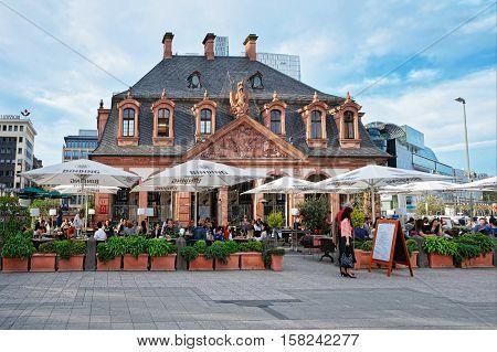 Hauptwache In The City Center Of Frankfurt