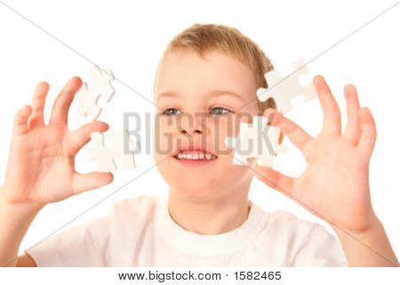 Child With Puzzles