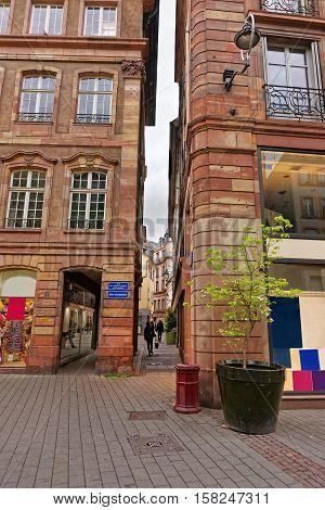 Narrow Street In Strasbourg In France