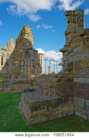 Remainings Of Whitby Abbey North Yorkshire In The Uk
