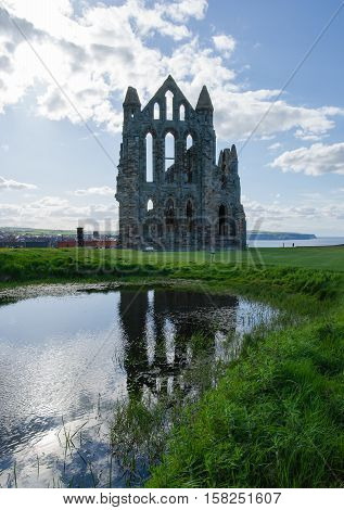 Remainings Of Whitby Abbey North Yorkshire The Uk