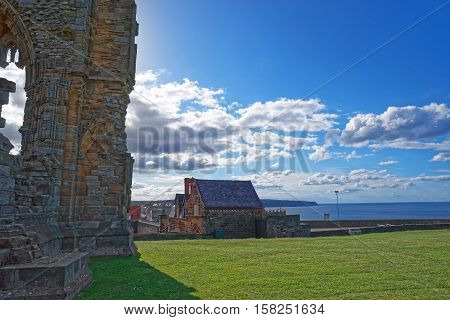 Remainings Of Whitby Abbey In North Yorkshire Of The Uk