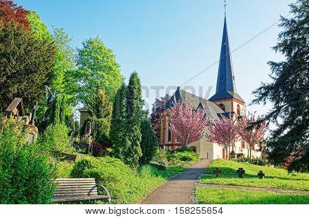 St Martin Church Of Linz Am Rhein In Germany