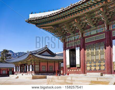 Throne Hall At Gyeongbokgung Palace In Seoul