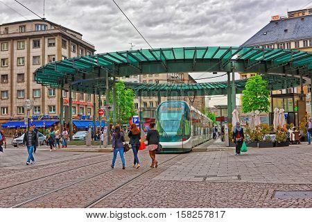 Train Station On Grande Ile In Strasbourg In France