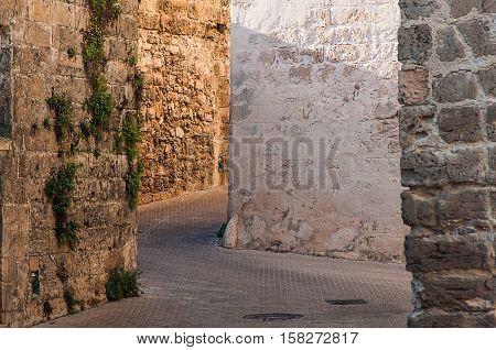 Mediterranean old architecture of Majorca island, Spain