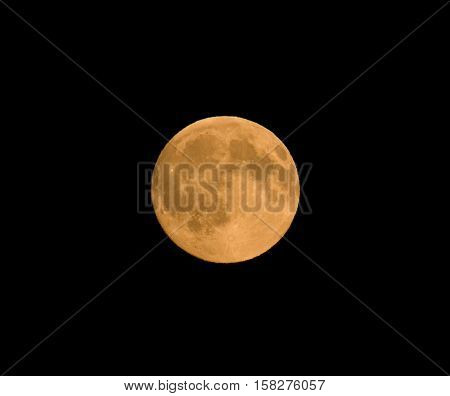 Full moon in August 2016 also known as the Grain Moon or Sturgeon Moon.