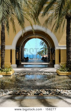 View Of Ocean Through Archway In Cabo San Lucas, Mexico