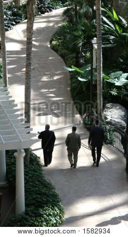 Overhead Of Businessmen Walking