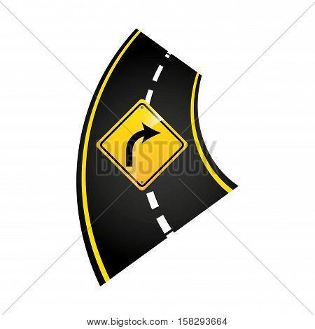 turn right road sign concept graphic vector illustration eps 10