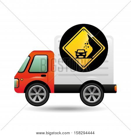 collapse traffic sign concept vector illustration eps 10