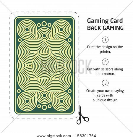 reverse side of a playing card for blackjack other game with