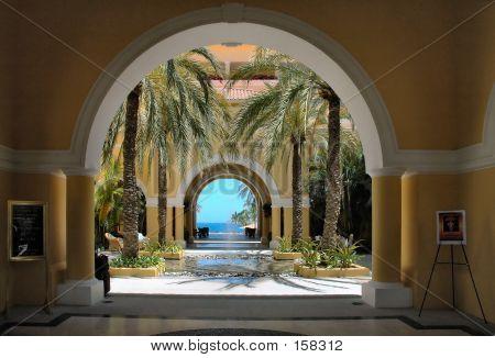 View Through The Arches In Cabo San Lucas, Mexico