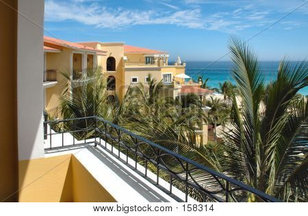View From Balcony At A Resort In Cabo San Lucas, Mexico