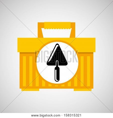 portable tool box trowel icon vector illustration eps 10