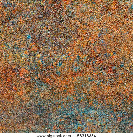 Rusty metal texture or rusty metal background. Rusty metal is caused by moisture in the air. Grunge retro vintage of rusty metal plate. Abstract rusty metal for design with copy space for text or image.