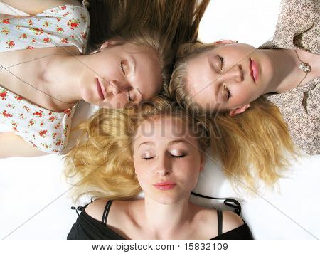 Three Girls Sleeping
