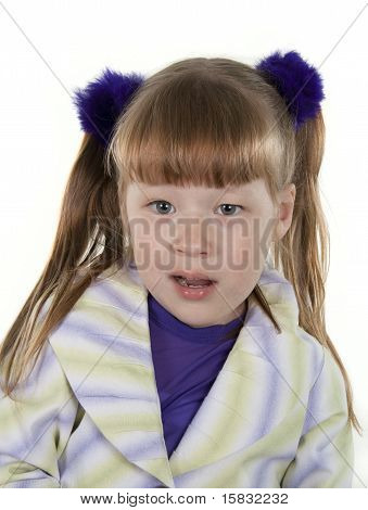 Portrait Of The Cheerful Little Girl