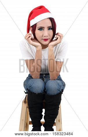 Woman And Red Hat