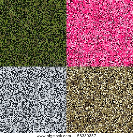 The military background of the pixel camouflage.
