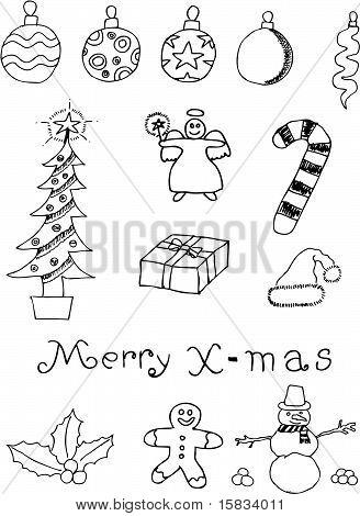Christmas Icon Doodle