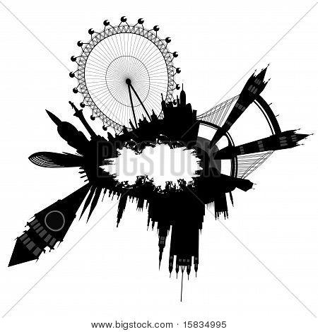 Skyline von London im Grunge-Stil