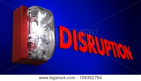 Disruption Fire Alarm Pause Stop Break Interruption 3d Illustration