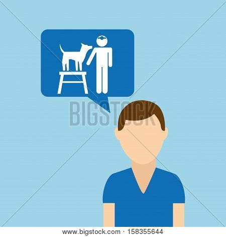 character pet training dog obedience vector illustration eps 10