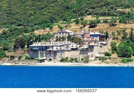 Xenofontos Monastery, Athos Peninsula, Mount Athos, Chalkidiki, Greece