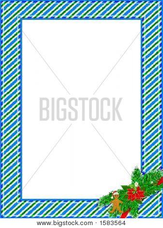 Blue Striped Frame