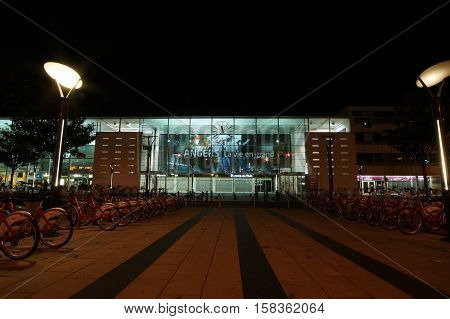 ANGERS, FRANCE, MAY 06, 2012:City of Angers in France railway Station, MAY 06, 2012. In the Maine-et-Loire department in western France about 300 km (190 mi) south-west of Paris