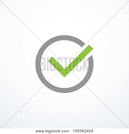 Vector tick icon. Chek mark icon. Vector illustration