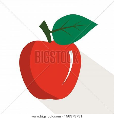 Apple. Ripe, juicy fruit. Color vector illustration