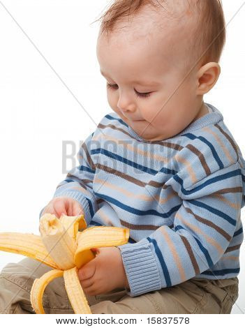 Little Boy Eats Banana