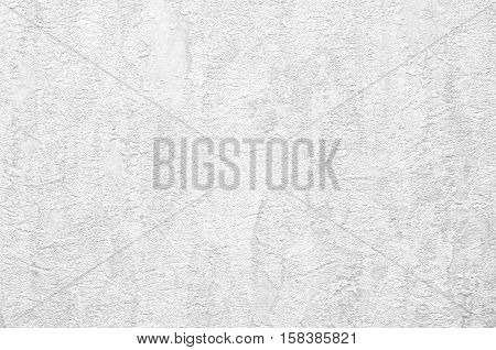 Background With White Plaster Wall With Uneven Surface