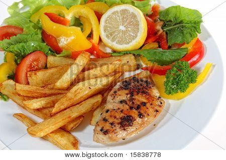 Fried Pepper Chicken Breast Meal