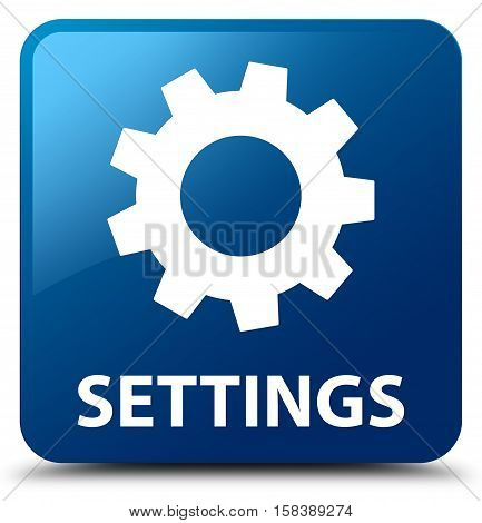 Settings (gears icon) on blue square button