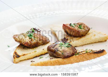 canape with foie gras